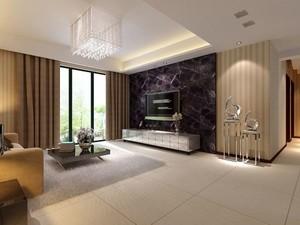 中式简约客厅电视墙装修效果图