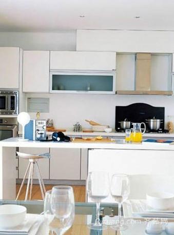 韩式开放式厨房装修效果图