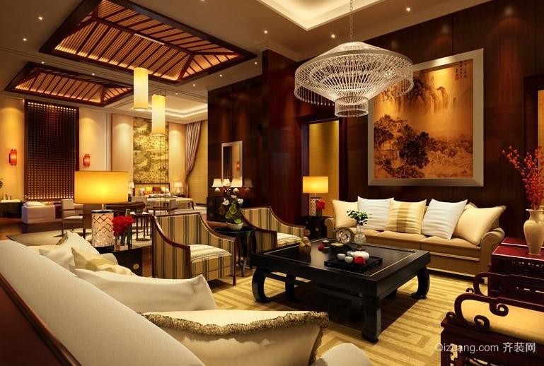 100平米豪华中式客厅装修效果图