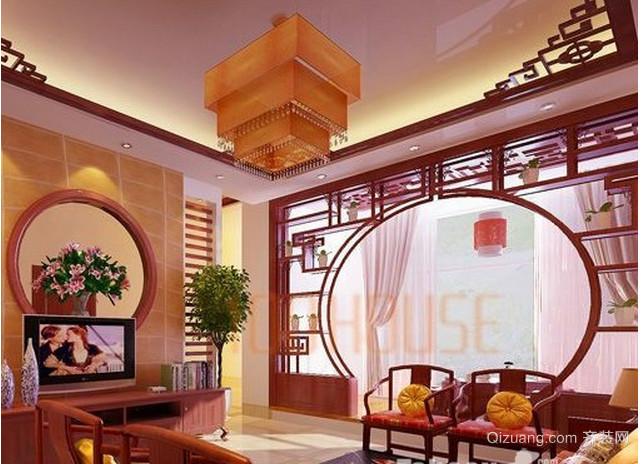 中式简约楼中楼装修效果图
