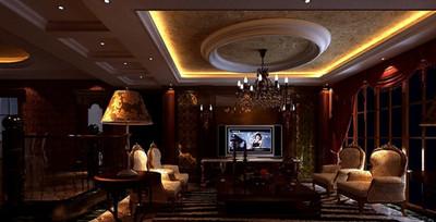 古典歐式別墅客廳裝修圖