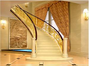 豪华别墅大理石楼梯装修效果图