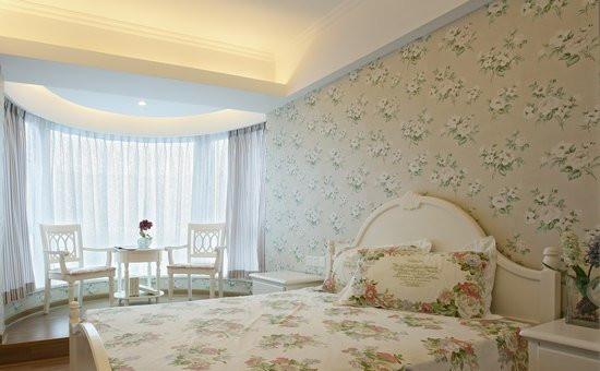 浪漫婚房卧室墙纸装修效果图