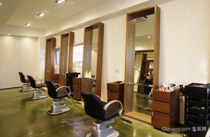 高端50平米小户型美发店装修效果图