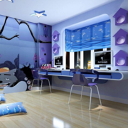 紫色的书房设计图