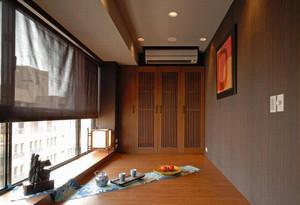 现代中式单身公寓装修效果图