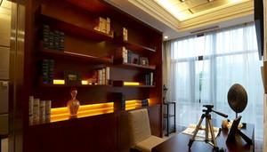 三室一厅东南亚风格书房设计装修效果图