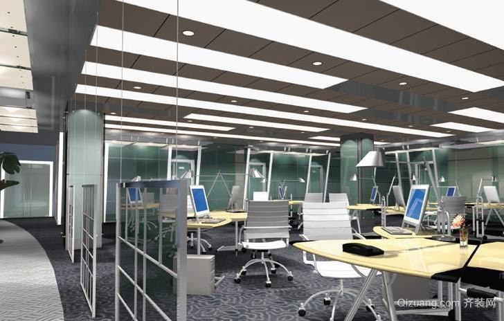 办公室隔断墙装修效果图