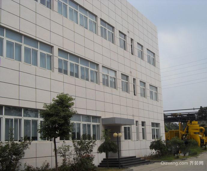 现代简约大型厂房外墙砖装修效果图