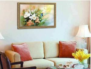 三室一厅大户型客厅十字绣装修效果图