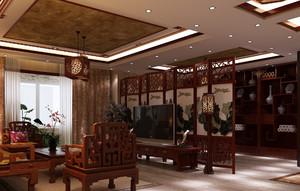客厅家庭装饰屏风隔断装修效果图