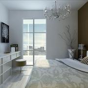 卧室简约隔断100平米装修