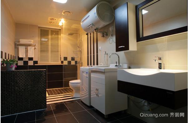 110平大户型卫生间置物柜装修效果图