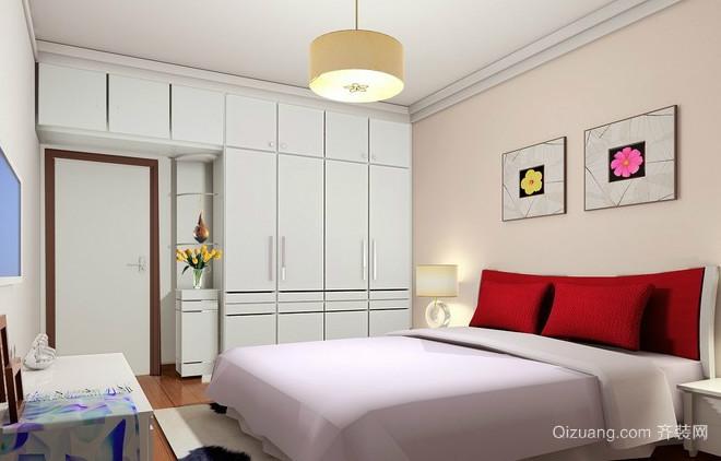 家庭卧室壁柜装修效果图
