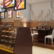 蛋糕店设计背景墙图