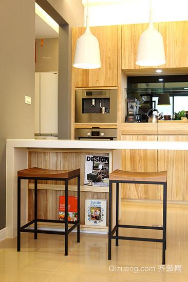 美式两厅客厅吧台装修效果图