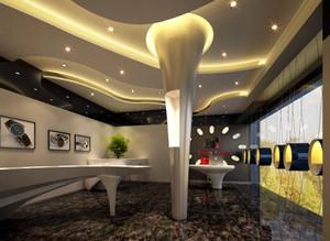 现代简约风格展厅装修效果图