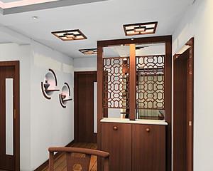 单身公寓简欧风格客厅玄关鞋柜装修效果图
