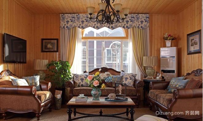 美式木屋别墅装修设计效果图