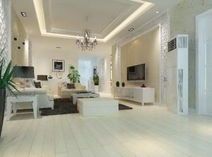 欧式风格复式楼客厅装修样板间效果图