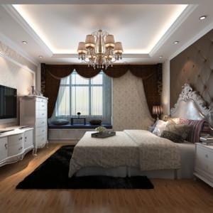 70平米简欧风格客厅飘窗装修效果图