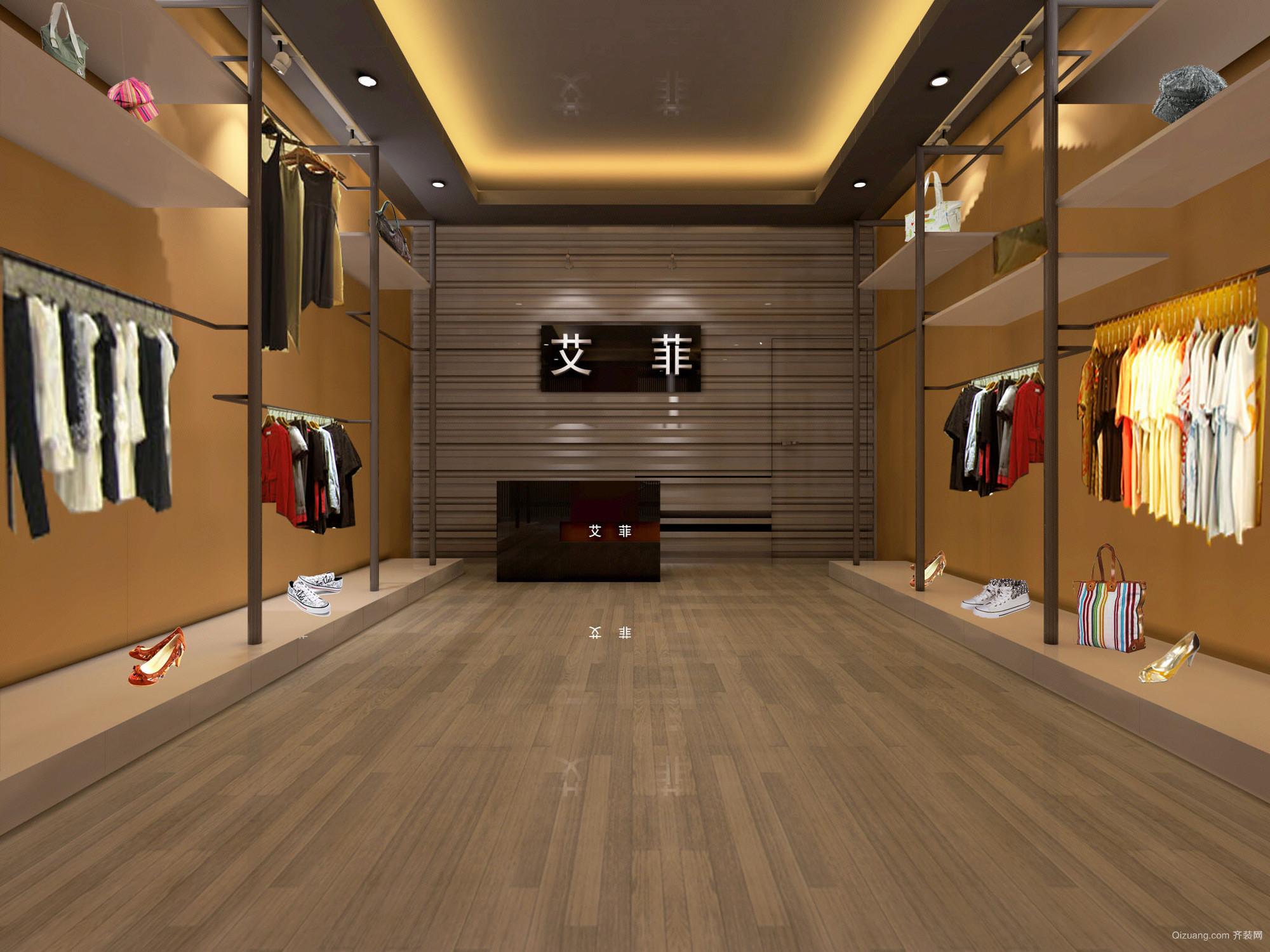 中小型服装店背景墙装修设计效果图