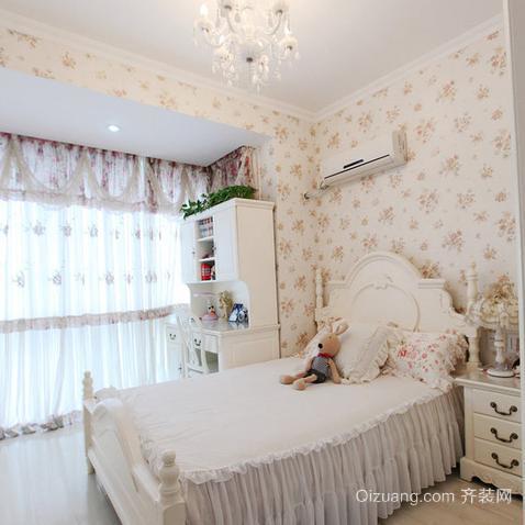 70平米现代田园风格儿童卧室背景墙装修效果图
