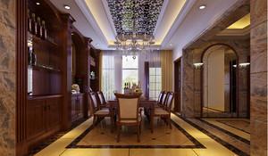 大户型欧式跃层式住宅客厅背景墙装修效果图