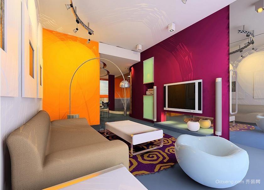 大户型欧式客厅沙发旁落地灯背景墙装修效果图