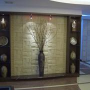 精致的背景墙灯光设计