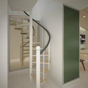 纯白色调楼梯设计
