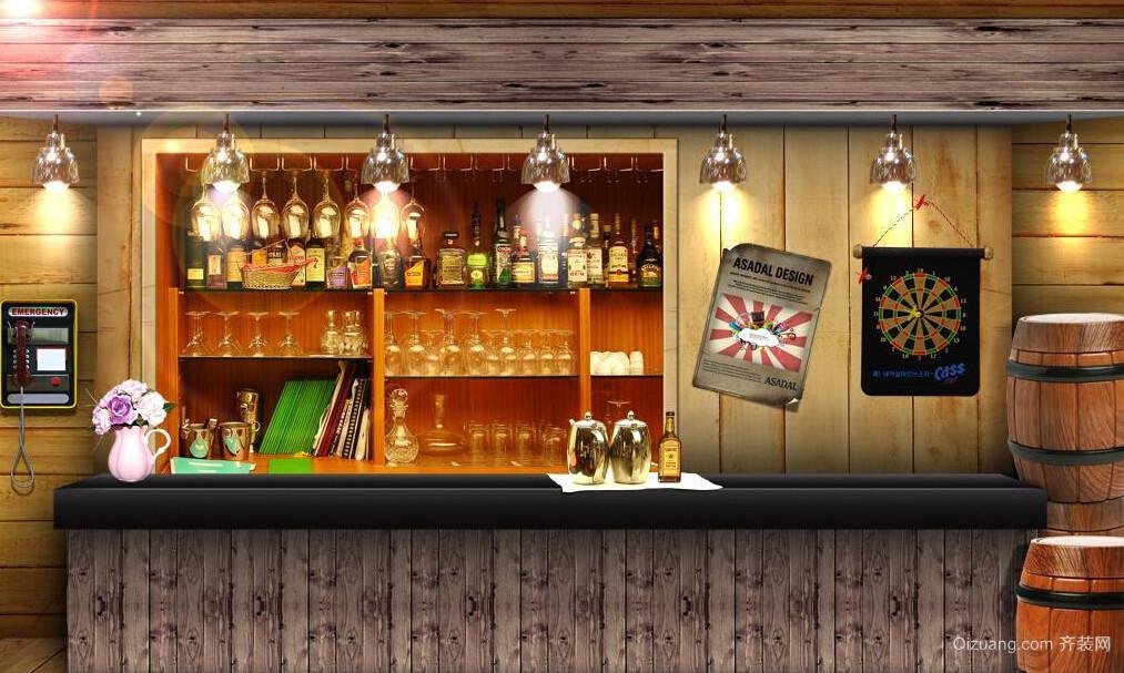 超显个性酒吧吧台装修设计效果图