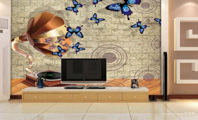 室内装修3d电视背景墙装修效果图