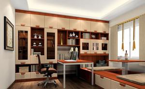 大户型现代简约榻榻米书房设计装修效果图