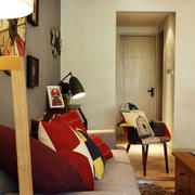 唯美的沙发背景墙