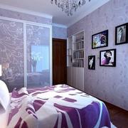 现代卧室背景墙图案设计