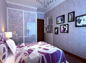 浪漫紫色田园风格卧室装修效果图