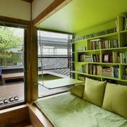 三室一厅清新绿色卧室