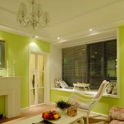 清新绿色客厅展示