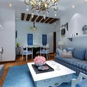 清新型客厅设计图片