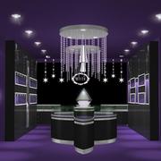 紫色调珠宝展柜装修