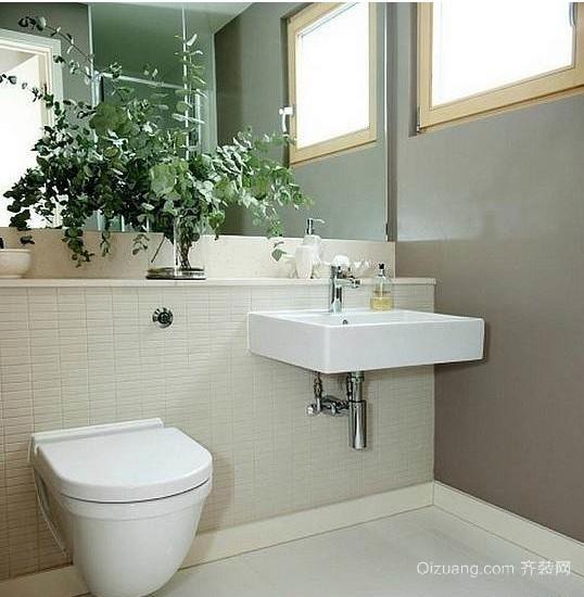 一居室田园风格卫生间装修设计效果图