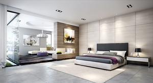 现代化的大户型卧室
