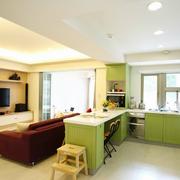 自然风格客厅吧台装修