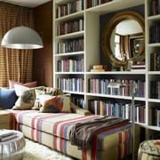 地中海风格书房书柜装饰