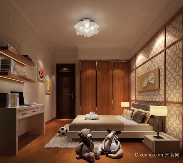 120平米清新自然中式风格儿童房设计装修效果图
