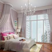 简欧卧室粉色墙衣