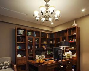 书房深色系转角书桌