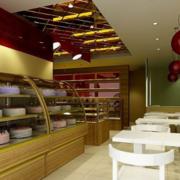 蛋糕店实木展示柜