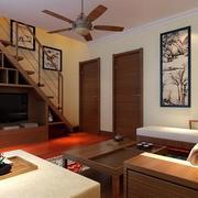 现代跃层式家居装饰画